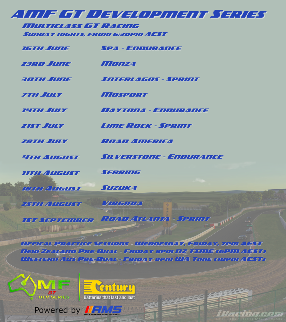 AMF iRacing League – Aussie Mixed & Fixed